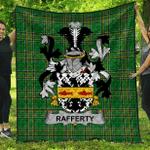 1sttheworld Premium Quilt - Rafferty Or O'Rafferty Irish Family Crest Quilt - Irish National Tartan A7