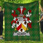 1sttheworld Premium Quilt - Gilbert Irish Family Crest Quilt - Irish National Tartan A7