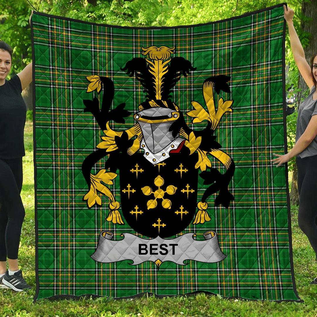 1sttheworld Premium Quilt - Best Irish Family Crest Quilt - Irish National Tartan A7