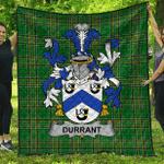 1sttheworld Premium Quilt - Durrant Irish Family Crest Quilt - Irish National Tartan A7