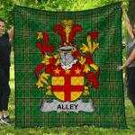 1sttheworld Premium Quilt - Alley Irish Family Crest Quilt - Irish National Tartan A7