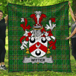 1sttheworld Premium Quilt - Witter Irish Family Crest Quilt - Irish National Tartan A7
