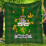1sttheworld Premium Quilt - Mullady Or O'Mullady Irish Family Crest Quilt - Irish National Tartan A7