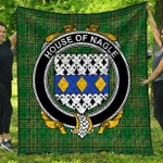 1sttheworld Premium Quilt - House Of Nagle Irish Family Crest Quilt - Irish National Tartan A7