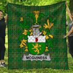 1sttheworld Premium Quilt - Mcguiness Or Mcgenis Irish Family Crest Quilt - Irish National Tartan A7