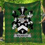 1sttheworld Premium Quilt - Bulkeley Irish Family Crest Quilt - Irish National Tartan A7