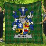 1sttheworld Premium Quilt - Neill Or Mcneill Irish Family Crest Quilt - Irish National Tartan A7