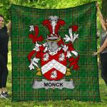 1sttheworld Premium Quilt - Monck Or Moncke Irish Family Crest Quilt - Irish National Tartan A7