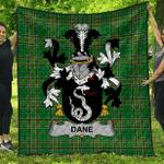 1sttheworld Premium Quilt - Dane Or O'Dane Irish Family Crest Quilt - Irish National Tartan A7