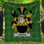 1sttheworld Premium Quilt - Hogan Or O'Hogan Irish Family Crest Quilt - Irish National Tartan A7