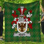 1sttheworld Premium Quilt - Reidy Or O'Reidy Irish Family Crest Quilt - Irish National Tartan A7