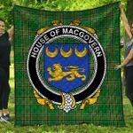 1sttheworld Premium Quilt - House Of Macgovern Irish Family Crest Quilt - Irish National Tartan A7