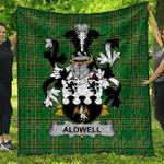 1sttheworld Premium Quilt - Aldwell Irish Family Crest Quilt - Irish National Tartan A7