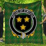 1sttheworld Premium Quilt - House Of O'Moran Irish Family Crest Quilt - Irish National Tartan A7