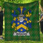 1sttheworld Premium Quilt - Monahan Or O'Monaghan Irish Family Crest Quilt - Irish National Tartan A7