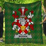 1sttheworld Premium Quilt - Bodkin Irish Family Crest Quilt - Irish National Tartan A7