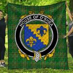 1sttheworld Premium Quilt - House Of O'Shea Irish Family Crest Quilt - Irish National Tartan A7