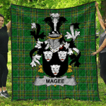 1sttheworld Premium Quilt - Magee Or Mcgee Irish Family Crest Quilt - Irish National Tartan A7