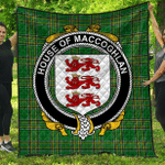 1sttheworld Premium Quilt - House Of Maccoghlan Irish Family Crest Quilt - Irish National Tartan A7