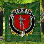 1sttheworld Premium Quilt - House Of O'Loughlin Irish Family Crest Quilt - Irish National Tartan A7