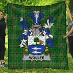 1sttheworld Premium Quilt - Woulfe Irish Family Crest Quilt - Irish National Tartan A7