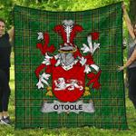 1sttheworld Premium Quilt - Toole Or O'Toole Irish Family Crest Quilt - Irish National Tartan A7