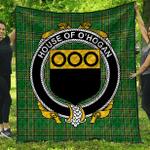 1sttheworld Premium Quilt - House Of O'Hogan Irish Family Crest Quilt - Irish National Tartan A7