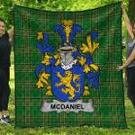 1sttheworld Premium Quilt - Mcdaniel Or Daniel Irish Family Crest Quilt - Irish National Tartan A7