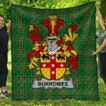 1sttheworld Premium Quilt - Burrowes Irish Family Crest Quilt - Irish National Tartan A7