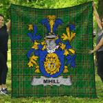 1sttheworld Premium Quilt - Mihill Irish Family Crest Quilt - Irish National Tartan A7