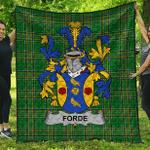1sttheworld Premium Quilt - Forde Or Consnave Irish Family Crest Quilt - Irish National Tartan A7
