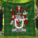 1sttheworld Premium Quilt - Mape Irish Family Crest Quilt - Irish National Tartan A7