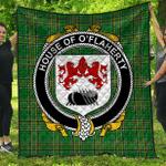 1sttheworld Premium Quilt - House Of O'Flaherty Irish Family Crest Quilt - Irish National Tartan A7