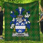 1sttheworld Premium Quilt - Leman Or Lemon Irish Family Crest Quilt - Irish National Tartan A7