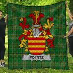 1sttheworld Premium Quilt - Poyntz Irish Family Crest Quilt - Irish National Tartan A7