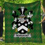 1sttheworld Premium Quilt - Mordaunt Irish Family Crest Quilt - Irish National Tartan A7
