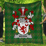 1sttheworld Premium Quilt - Keogh Or Mckeogh Irish Family Crest Quilt - Irish National Tartan A7