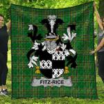 1sttheworld Premium Quilt - Fitz-Rice Irish Family Crest Quilt - Irish National Tartan A7