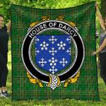 1sttheworld Premium Quilt - House Of Darcy Irish Family Crest Quilt - Irish National Tartan A7