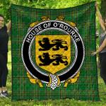 1sttheworld Premium Quilt - House Of O'Rourke Irish Family Crest Quilt - Irish National Tartan A7