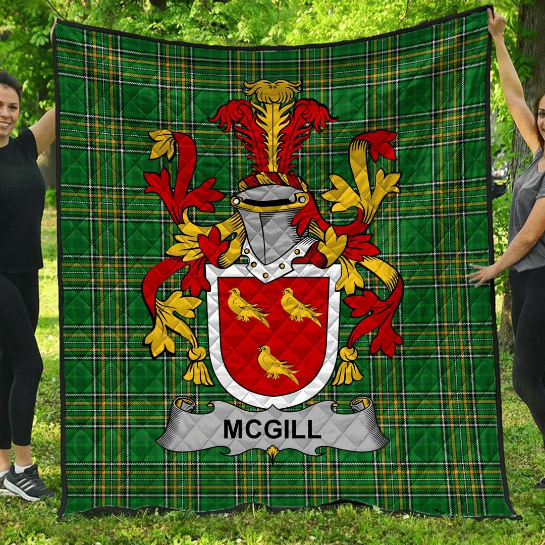 1sttheworld Premium Quilt - Mcgill Irish Family Crest Quilt - Irish National Tartan A7