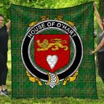 1sttheworld Premium Quilt - House Of O'Hart Irish Family Crest Quilt - Irish National Tartan A7