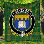 1sttheworld Premium Quilt - House Of Conroy (O'Mulconry) Irish Family Crest Quilt - Irish National Tartan A7