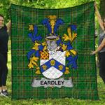 1sttheworld Premium Quilt - Eardley Irish Family Crest Quilt - Irish National Tartan A7