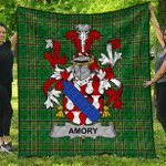 1sttheworld Premium Quilt - Amory Irish Family Crest Quilt - Irish National Tartan A7