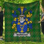 1sttheworld Premium Quilt - Morrogh Or Morrow Irish Family Crest Quilt - Irish National Tartan A7