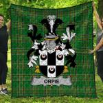 1sttheworld Premium Quilt - Orpie Irish Family Crest Quilt - Irish National Tartan A7