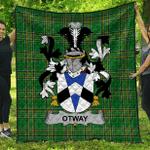 1sttheworld Premium Quilt - Otway Irish Family Crest Quilt - Irish National Tartan A7