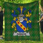 1sttheworld Premium Quilt - Dawson Irish Family Crest Quilt - Irish National Tartan A7