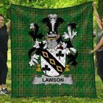 1sttheworld Premium Quilt - Lawson Irish Family Crest Quilt - Irish National Tartan A7
